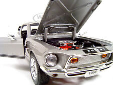 1968 SHELBY GT500 KR SILVER 1:18 SCALE DIECAST MODEL BY ROAD SIGNATURE 92168