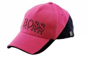 Hugo-Boss-Cap-MK-Medium-Pink-Adjustable-Cotton-Baseball-Hat-One-Size-Fits-Most