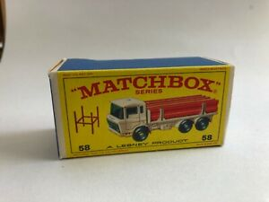 Matchbox-Lesney-58-D-a-f-Viga-camion-tipo-e-Vacia-Caja-Original-solo