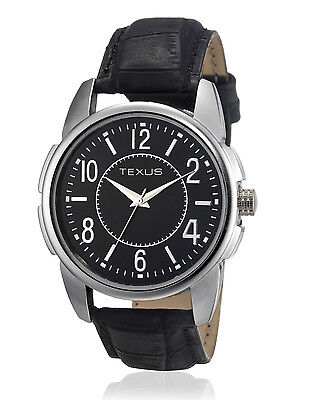 Texus(TXMW024) Black Strap Watch for Men/Boys