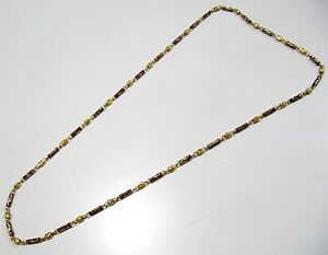 Beautiful-Handmade-Beaded-Chain-Meena-Work-Necklace-28-inches-long-Gold-Plated