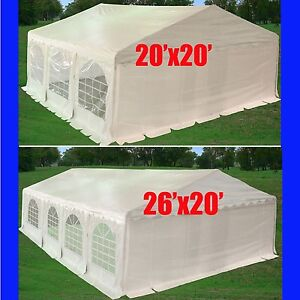 Details about 20'x20', 26'x20' PE Party Tent w Waterproof Top - Wedding  Gazebo Canopy - White