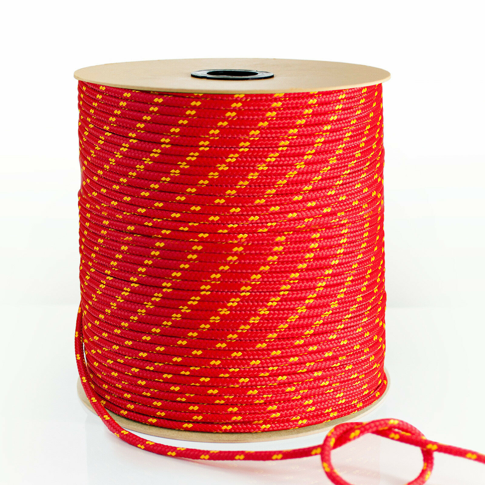 RED POLYPROPYLENE ROPE braided polyrope weatherproof cord sash synthetic fibre