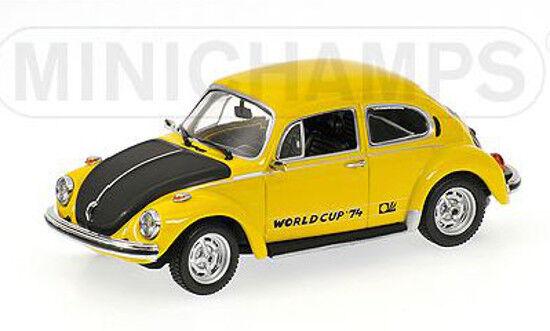 autorización VW esCocheabajo cabrio World Cup 1974 amarillo 1 43 Minichamps Minichamps Minichamps coche modelo 430055116  marcas de diseñadores baratos