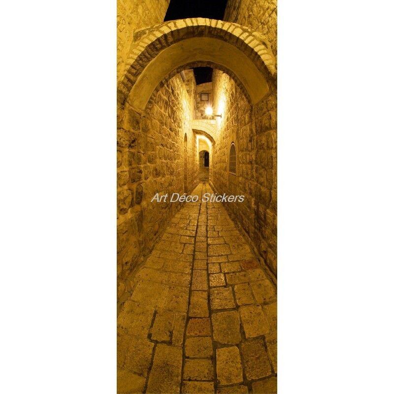 Cartel Póster Formato Puerta Trompa Trampantojo Callejuela 101 Arte Decoración