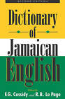 A Dictionary of Jamaican English by University of the West Indies Press (Paperback, 2002)