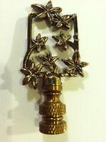 Venetian Gold Floral Finial Lamp Top Shade Topper Light Decor