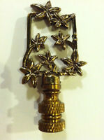 Venetian Gold Floral Finial Lamp Top Shade Topper Light Decor