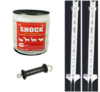 Electric Fence / Fencing: 4ft Post,40mm Tape Xvalue Kit