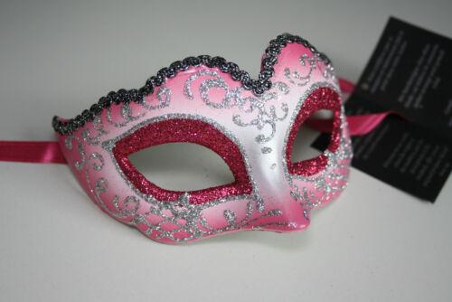 Piccola Originale veneziane Maschera occhi Maschera Carnevale Rosa