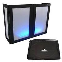 Grundorf Led Glow Dj Booth Facade Screen With Protective Transport Bag/case
