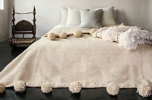 Moroccan Blanket Moroccan Pompom Blanket FREE SHIPPING Moroccan Throw Blanket
