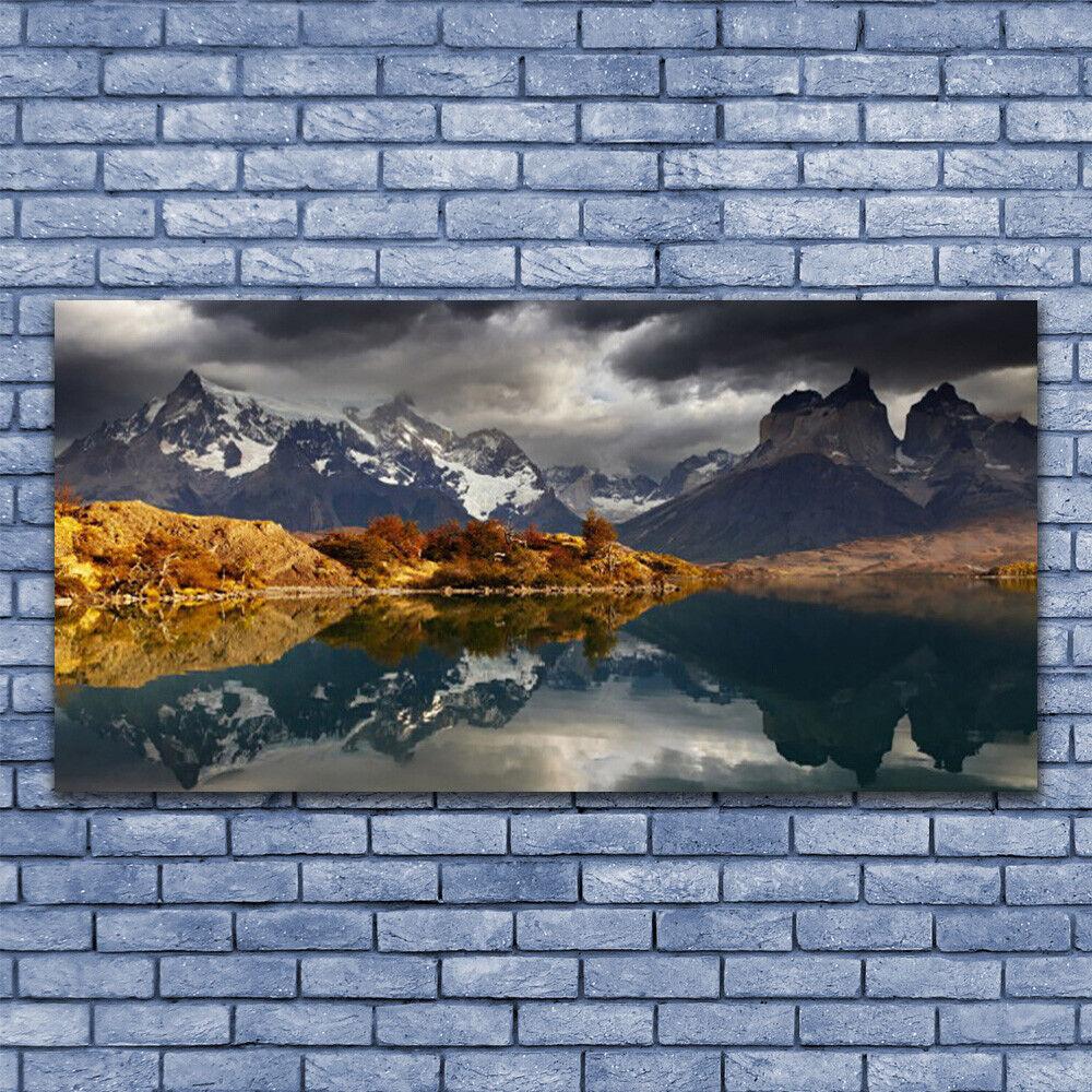 Leinwand-Bilder Wandbild Leinwandbild 140x70 Gebirge See Landschaft