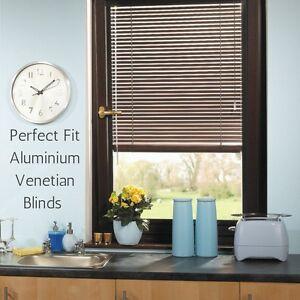 Image Is Loading Perfect Fit Aluminium Metal Venetian Blinds For Pvc