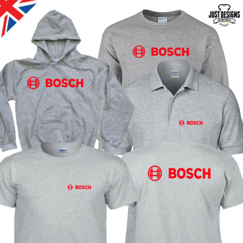 Bosch Grey Logo T-shirt Hoodie Polo Shirt Jumper S-5XL Power Tools Adults Kids