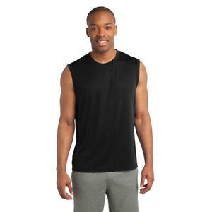 52ff43de SPORT TEK SLEEVELESS Moisture dri fit Wick MUSCLE T-shirts Mens Sz ...