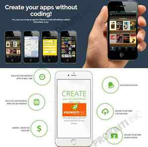 Make and Sell mobile APP without coding > online application > lifetime> 5 APP