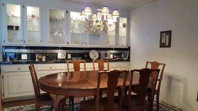 Antique Solid Mahogany Dining Room Table And Chairs Ebay