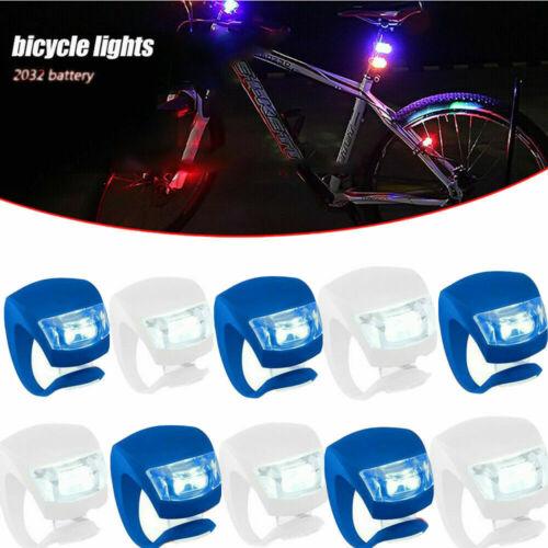 3 Stück LED Fahrradlampe Set Fahrradlicht LED Sicherheitslicht Silikon e 03