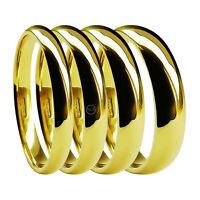 18ct Yellow Gold Wedding Rings Court Comfort 2mm 3mm 4mm 5mm 6mm Medium HM Bands