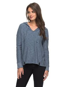 Roxy Womens Lovely Aside Stripe Shirt Heritage Heather Gray