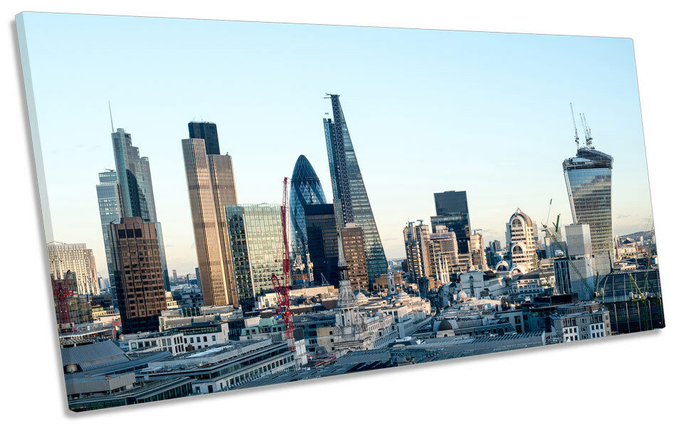 City of London Skyline CANVAS ART Print Panoramic Picture