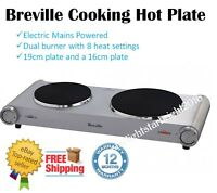 Electric Cooking Hot Plate Double Burner Countertop Hotplate Portable Travel