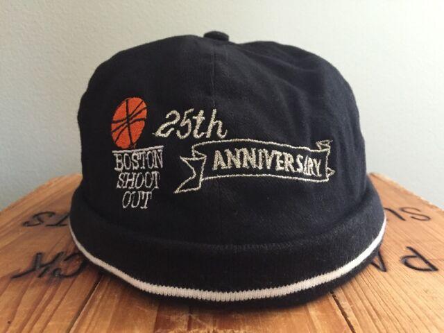 Vintage Boston Shoot Out Brimless Black Hat Basketball 25th Anniversary No Brim