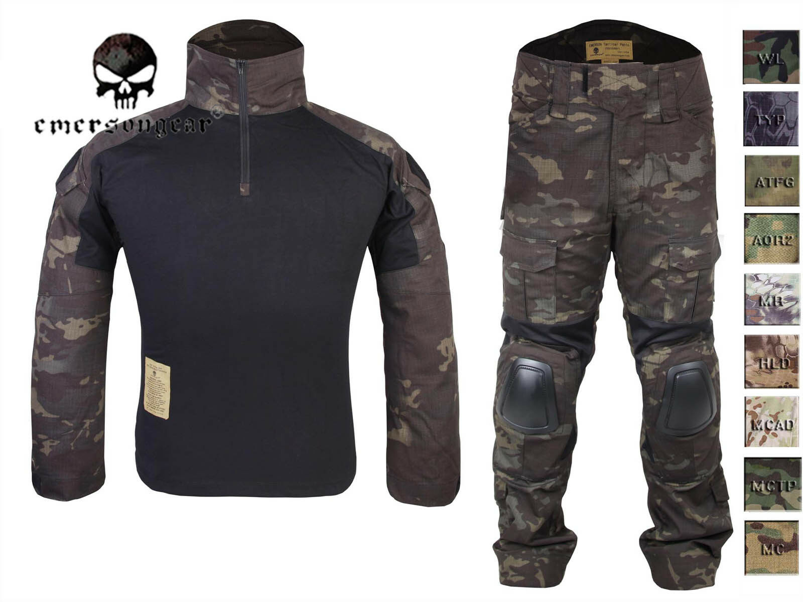 Emerson combat set Shirt&Pants with elbow knee pads Water-resistant  Uniform  here has the latest