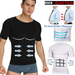 Men-039-s-Seamless-Slimming-Body-Shaper-Vest-Abdomen-T-Shirt-Compression-Sport-Tank