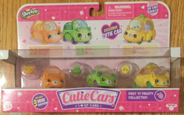Shopkins Cutie Cars 3 Pack FAST N FRUITY Collection 22 23 /& 24