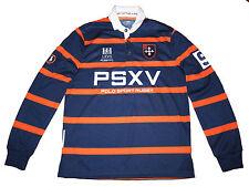 Polo Sport Ralph Lauren Navy Blue Orange Rugby Football Jersey Shirt XL