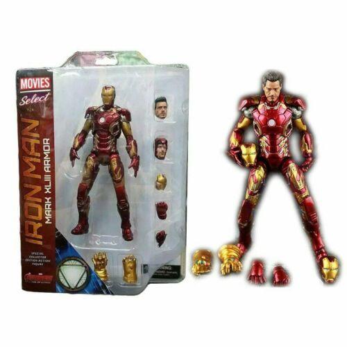 Marvel Ironman MK46 MK43 Super Hero The Avengers Action Figures Model Toys Gifts