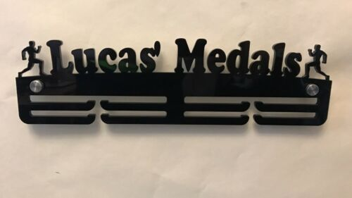 PersonalisedMale Running 2 Tier Medal Hanger Medal Holder 5mm THICK Acrylic