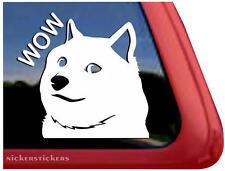 Shiba Inu Wow | High Quality Vinyl Shibe Doge Auto Window Tablet Sticker Decal