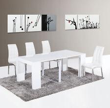 Tavolo Consolle allungabile ingresso soggiorno fino a 3 mt bianco lucido laccato
