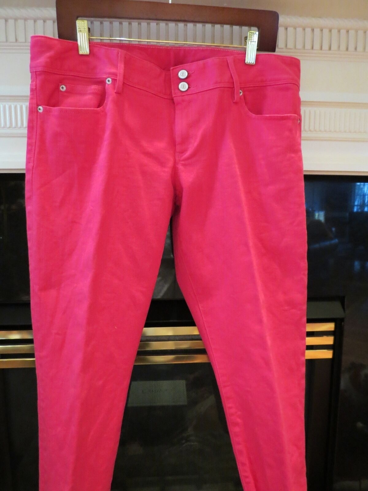 NWOT WOMENS LILLY PULITZER PINK WORTH STRAIGHT LEG JEANS PANTS SIZE 14