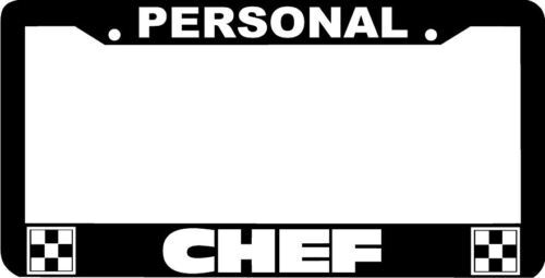 PERSONAL CHEF License Plate Frame