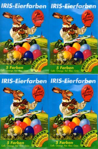 4x 5 Iris-eierfarben colore comprimés pour eau chaude-œufs de pâques couleur 4102
