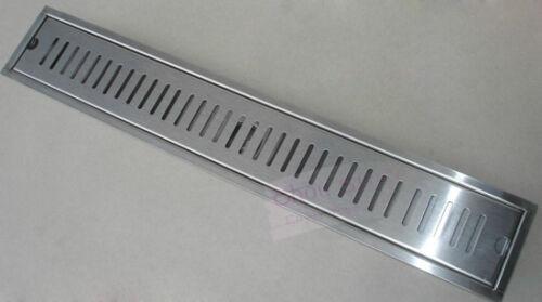 Brushed Stainless Steel Shower Drain Grate Bathroom Floor Drain 40CMX10CM D19-4