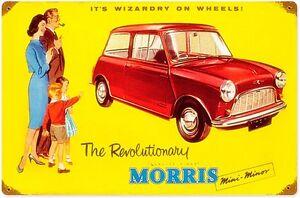 Morris-Mini-Minor-rusted-metal-sign-pst-1812