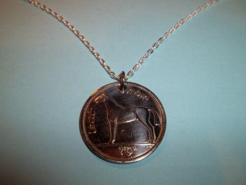 IRISH HALF CROWN COIN NECKLACE 1955-65th BIRTHDAY