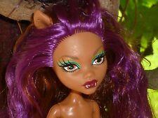 Monster High Probably Gloom Beach Clawdeen Wolf Doll ~ Nude ~ Play/OOAK