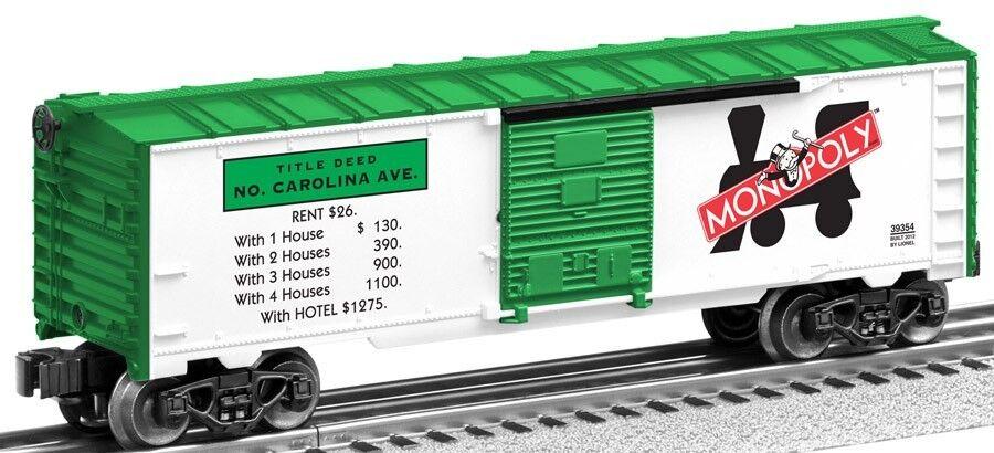 2012 Lionel 6-39354 monopolio de Cocheolina del Norte Ave Furgón nuevo en la caja