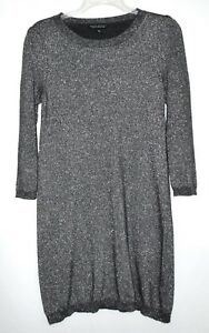 b6437894475e4 Image is loading Banana-Republic-Charcoal-Silver-Metallic-Wool-Cashmere- Blend-