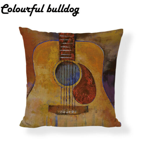 Wholesale Vintage Creative Cushion Cover Map Music Anchor Compass Mermaid Guitar