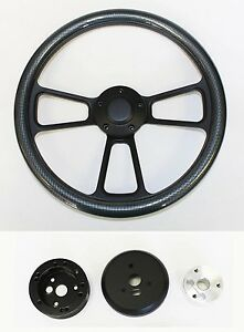 Mercury-Cougar-Comet-Cyclone-Steering-Wheel-Carbon-Fiber-on-Black-14-034