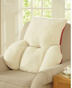 Back Support Cushion Pillow Orthopaedic Fleece Fluffy ...