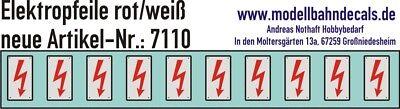 Consegna Veloce 10 Traccia 1 Elektropfeile 6,8x3,8mm Rosso Su Fondo Bianco Scudo 032-7110-mostra Il Titolo Originale