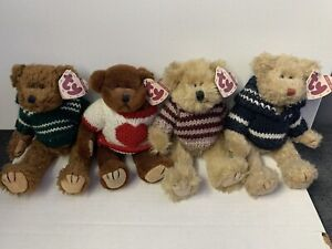 TY Beanie Babies - 4 Bear First Generation Set Mason, Casanova, Fraser, Chelsea